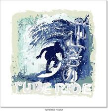 Surfing Tube Ride Art Print Home Decor Wall Art Poster