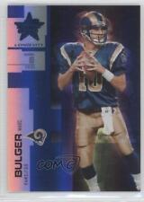 2007 Leaf Rookies & Stars Longevity Sapphire #43 Marc Bulger St. Louis Rams Card