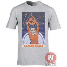 Soviet space astronaut propaganda poster retro hipster cool design t-shirt tee