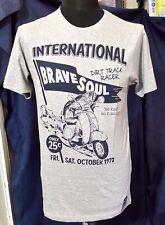 Nuevo Para hombres alma valiente Dirt Track Racer Estampado Gráfico Manga Corta Camiseta