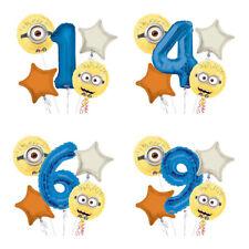 Despicable Me Minions 1-9 Birthday Balloon Bouquet 5 pcs Boys Birthday Party