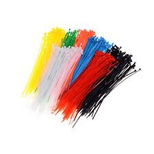 100x/set 3x200mm Nylon Plastic Zip Trim Wrap CFFle Loop Ties Wire Self-LockingFF