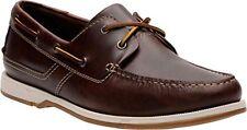 Clarks Men's Fulmen Row Dark Tan Leather Boat Shoe 26124389