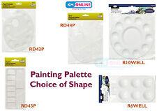 Le tavolozze Vernice Tavolozza di miscelazione Vernice Artista in plastica ovale rotondo quadrato piatto Royal