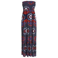 Women's Floral Print Strapless Bandeau Maxi Dress RRP £32