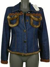 Giubbotto donna Giorgio Grati tg. 42 Jeans Imbottito Visone Italy Denim Jacket