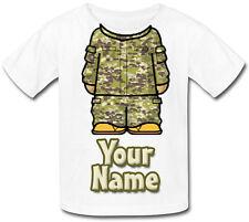 ESERCITO / combattimento camouflage personalizzata KIDS T-SHIRT - Regalo & denominato troppo