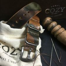 Handmade Style II 101 Leather camouflage ZULU / NATO Strap (20mm, 22mm, 24mm)
