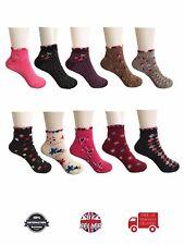 12/18/24 pairs Wholesale Women Ladies Qualify Ankle Comfortable Socks UK 4-7