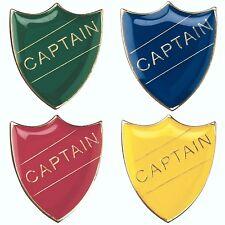 Captain Shield Enamel Badges - Free Delivery