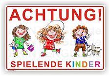 WARNSCHILD ACHTUNG SPIELENDE KINDER HINWEISSCHILDER 3mm Alu-Verbund Art. Kind. 5