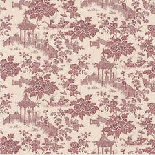 Raspberry Oriental Toile De Jouy Wallpaper - 51143010 - Vinyl - Paste The Wall