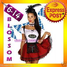 E45 Oktoberfest Costume Fancy Dress Up German Heidi Dirdnl Leiderhosen Beer Maid