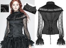 Chemise gothique lolita steampunk victorien jacquard dentelle corset PunkRave N