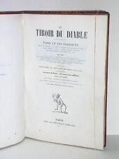 Gavarni livre illustré de 1850 Gavarni Le tiroir du diable paris et les parisien