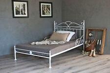 vintage flair   metallbett 140x200  in weiss ecru oder schwarz  inkl. lattenrost