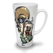 Skull Poker Card Casino NEW White Tea Coffee Latte Mug 12 17 oz   Wellcoda