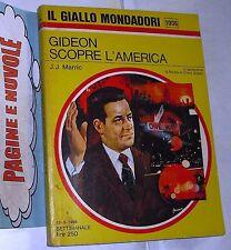 marric - GIDEON SCOPRE L'AMERICA - giallo mondadori  N. 1006 (1968)(g2)