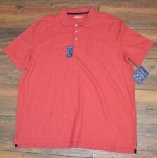 Croft & Barrow True Comfort Pique Polo Wicking UPF 15+ No Roll Collar Red Sunset