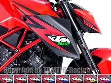 2x BEAST Aufkleber Sticker Motorrad Aprilia RSV RSV4 R RR V4 Mille 1000 RS 125
