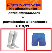 KIT CALCIO ALLENAMENTO GIVOVA CALZA CALZETTONE PANTALONCINO CORTO FITNESS SPORT