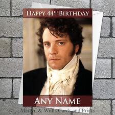 Pride and Prejudice birthday card: Mr Darcy / Colin Firth. Personalised.