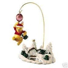 NIP 2006 DISNEY STORE CHRISTMAS ORNAMENT & STAND SET * POOH or MICKEY SLEIGH*