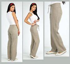 "GRAY LINEN PANTS DRAWSTRING Waist Pants Summer Pants European Pants Inseam 31"""