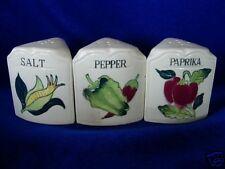 Vintage Salt/Pepper/Paprika Shakers Triangle Set- Japan