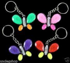 Glitter Butterflys Key Rings/Bag Charms