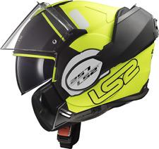 LS2 FF399 Valiant Prox Black Yellow Motorbike Helmet Modular Convert 180º