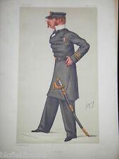 Originale VITTORIANA VANITY FAIR ROYAL NAVY / MILITARE STAMPA: Sir Allen YOUNG 1877