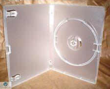 Standard singolo TRASPARENTE Dvd Casi 14 mm spina dorsale NUOVO Ricambio Vuoto Copertina Corallo