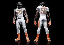 Nike Pro Bowl Team Rice Bright Orange Socks NFL Authentic LG XL XXL XLT