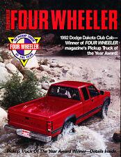 1992 Dodge Dakota Club Cab Sales Brochure Promo 4wheele