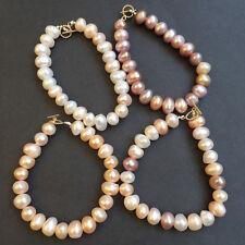 Elegant High luster 100% Natural 10-12mm Baroque freshwater pearl Bracelet