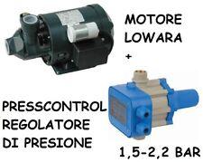 ELETTROPOMPA LOWARA + REGOLATORE DI PRESSIONE ELETTRONICO AUTOCLAVE 1,5 2,2 BAR