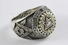 Masonic Freemasons Ring Templar Seal Ring Freemason 925 Silver /484