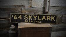 Custom Car Bar & Grill Sign - Primitive Rustic Hand Made Vintage Wood ENS1000273