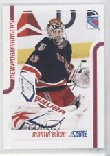 2011-12 Score #320 Martin Biron New York Rangers Hockey Card