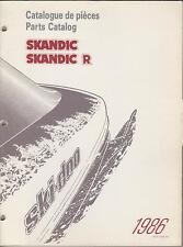 1986 SKI-DOO SKANDIC &  SKANDIC R  SNOWMOBILE PARTS MANUAL