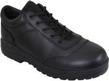 Black Athletic Oxfords Tactical Leather Utility Shoes Work Duty Uniform  Soft Toe 1555c2455f8