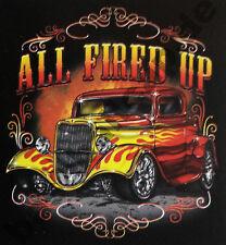 T-Shirt #577 ALL FIRED UP , HOT ROD V8 Hot Rod Rockabilly 50er US-Car Musclecar