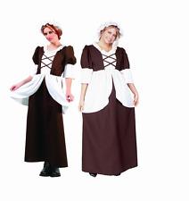COLONIAL LADY WOMAN COSTUME PEASANT PILGRIM PIONEER PRAIRIE ADULT COSTUMES 81230