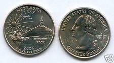 ETATS UNIS @ QUARTER DOLLAR NEBRASKA 2006 P NEUF USA