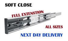 SOFT CLOSE BALL BEARING DRAWER RUNNERS FULL EXTENSION  SLIDE  PKL H45 ALL SIZES