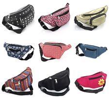 Bum Bag Fanny Pack Travel Money Waist Belt Pouch Fabric PU Floral Animal Studded