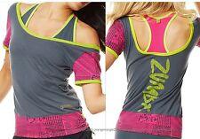 ZUMBA FITNESS ~2 PIECE SET! Sexy Back Top Tee Shirt & Racerback Sports Bra ~ZWAG