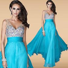 Abendkleid Ballkleid Partykleid Brautjungfernkleid Kleid Neu 34-38 Türkis BC273