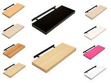 Floating Shelf - Wood or High Gloss Shelves - 60cm or 90cm Width - Colour Choice